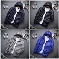 Men's Packable Ultralight Hoodie Down Jacket Winter Hooded P