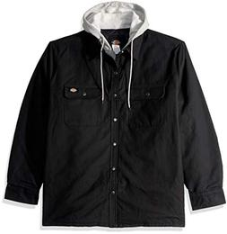 Dickies Men's Relaxed fit Hooded Duck Quilted Shirt Jacket,