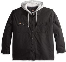Dickies Men's Relaxed fit Hooded Duck Quilted Shirt Jacket B