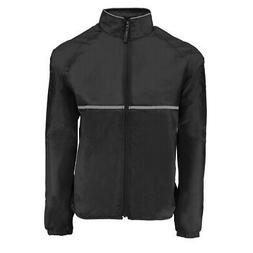 Reebok Men's Relay Sports Wind Full Zip Jacket Black XL
