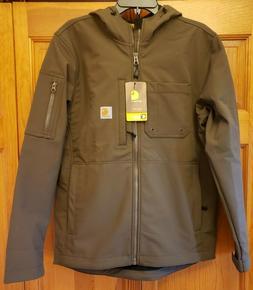 Carhartt Men's Rough Cut Soft Shell Jacket Hooded Tarmac/Bro