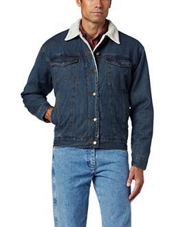Wrangler Men's Rustic Sherpa Lined Jacket, Denim/Sherpa, Med