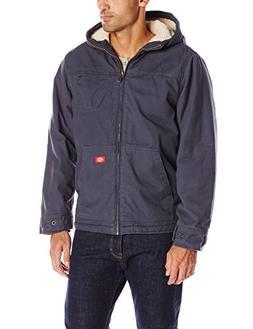 Dickies Men's Sanded Duck Sherpa Lined Hooded Jacket, Diesel