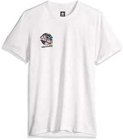 adidas Originals Men's Skateboarding Continent Tee, Pale Mel