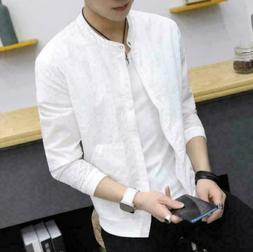 Men's Slim collar fashion jackets Tops Casual coat outerwear