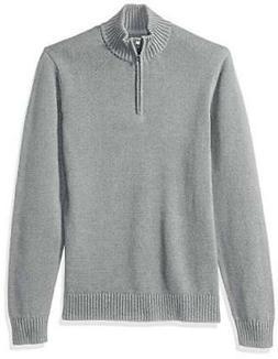 Goodthreads Men's Soft Cotton Quarter Zip Sweater - Choose S