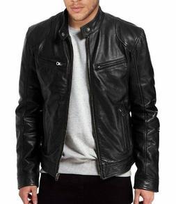 The Leather Factory Men's SWORD Black Genuine Lambskin Leath