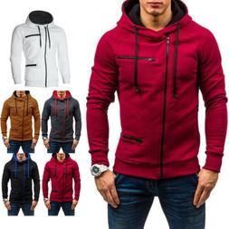 Men's Warm Hoodie Hooded Sweatshirt Coat Jacket Outwear Jump