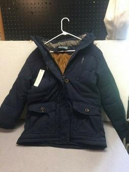 Chouyatou Men's Winter Detachable Hooded Frost-Fighter Sherp