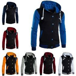 Men's Winter Hoodie Outwear Sweater Warm Coat Baseball Jacke