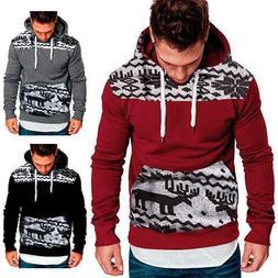Men's Winter Hoodies Pullover Hooded Sweatshirt Outwear Swea