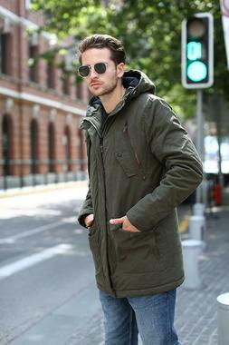 YsCube Men's Winter Parka Olive Jackets Outerwear Coat Water