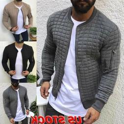 Men's Winter Slim Hoodie Warm Hooded Sweatshirt Zip Coat Jac
