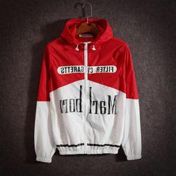 Men's Women's Novelty Marlboro Hoodie Jumper Sweater Jacket