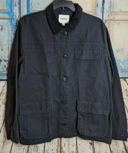 Goodthreads Men's XXL Barncoat Black 4 Pockets Button Up Lon
