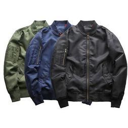 Men Winter Warm Bomber Jacket Military Flight Pilot Jackets