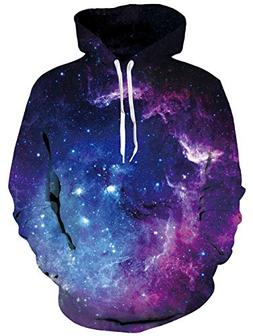 Uideazone Space Collection Men Women All Over Galaxy Print H