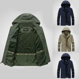 Mens 2019 Jacket Waterproof Hooded Outdoor Camping Windbreak
