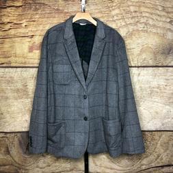 Goodthreads Mens 2XL Wool Blend Flannel Lined Jacket Sport C