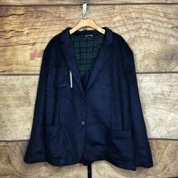 Goodthreads Mens 3XL Wool Blend Flannel Lined Jacket Sport C