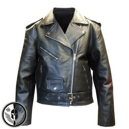 Mens American Genuine Leather Motorcycle Brando Perfecto Lea