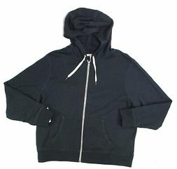 Goodthreads Mens Black Size 2XL Full Zip Drawstring Hooded J