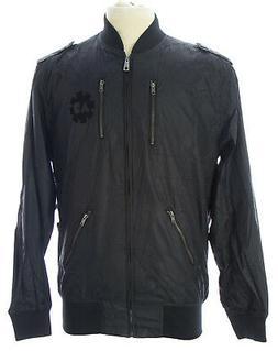 ARTFUL DODGER Mens Black The Revolution Bomber Jacket AM83-O
