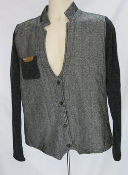 mens casual slim fit jacket cardigan sz