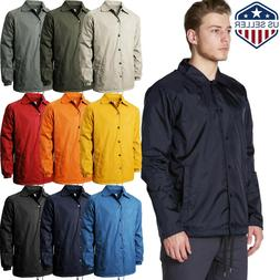 Mens COACH JACKET Windbreaker Active Sportswear Lightweight