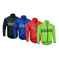 Mens Cycling Jacket High Visibility Waterproof Running Top R