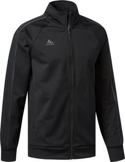 Mens Adidas Essential Track Jacket Black Zip Long Sleeve Shi