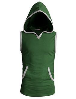 mens fashion slim fit sleeveless lightweight sports