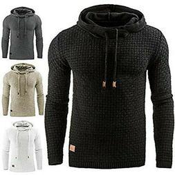 Mens Fashion Winter Hoodie Warm Hooded Sweatshirt Sweater Co