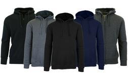 mens fleece hoodie with thermal lined hood