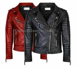 mens genuine leather jacket slim fit real