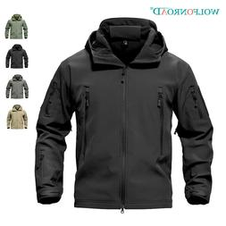 Mens Jackets Military Softshell Fleece Lining Outwear Army J
