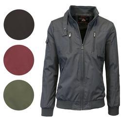 mens lightweight jacket moto bomber full zip