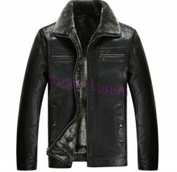 Mens Luxury Faux Leather Winter Business Short Coats Jackets