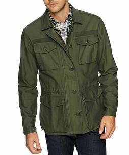 Mens Military Jacket 4-Pocket, Deep Depth/Olive, Medium, Goo