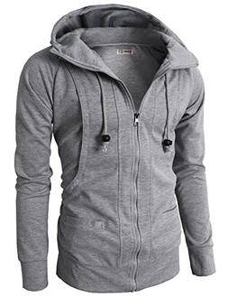 H2H Mens Novelty Color Block Hoodies Cozy Sport Outwear GRAY