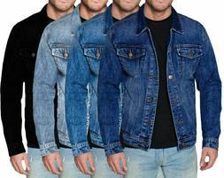 Men's Red Label Premium Faded Denim Cotton Jean Button Up