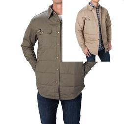 mens shirt jackets quilted big and tall