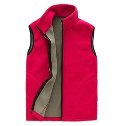 mens soft lightweight sleeveless fleece vest front