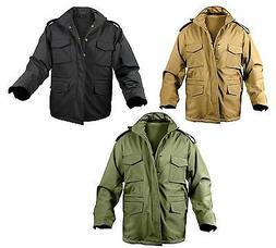 Mens Soft Shell Tactical Jacket M-65 Waterproof M65 Coat Rot