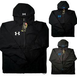 Mens Under Armour Storm Hybrid Waterproof Jacket Hooded Blac