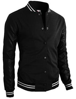 H2H Mens Warable Well Fit Varsity Baseball Letterman Jacket