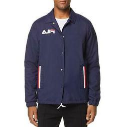 Fila Mens Winter Cold Weather Warm Windbreaker Jacket Outerw