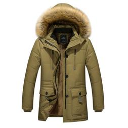 Mens Winter Jackets With Hoods Outerwear Clearance Slim Fit