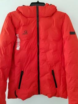 mens xl orange new echo quilt puffer