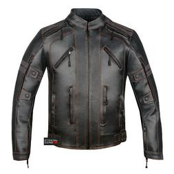 Mercury Highly Vented Men's Motorcycle Leather Jacket with A